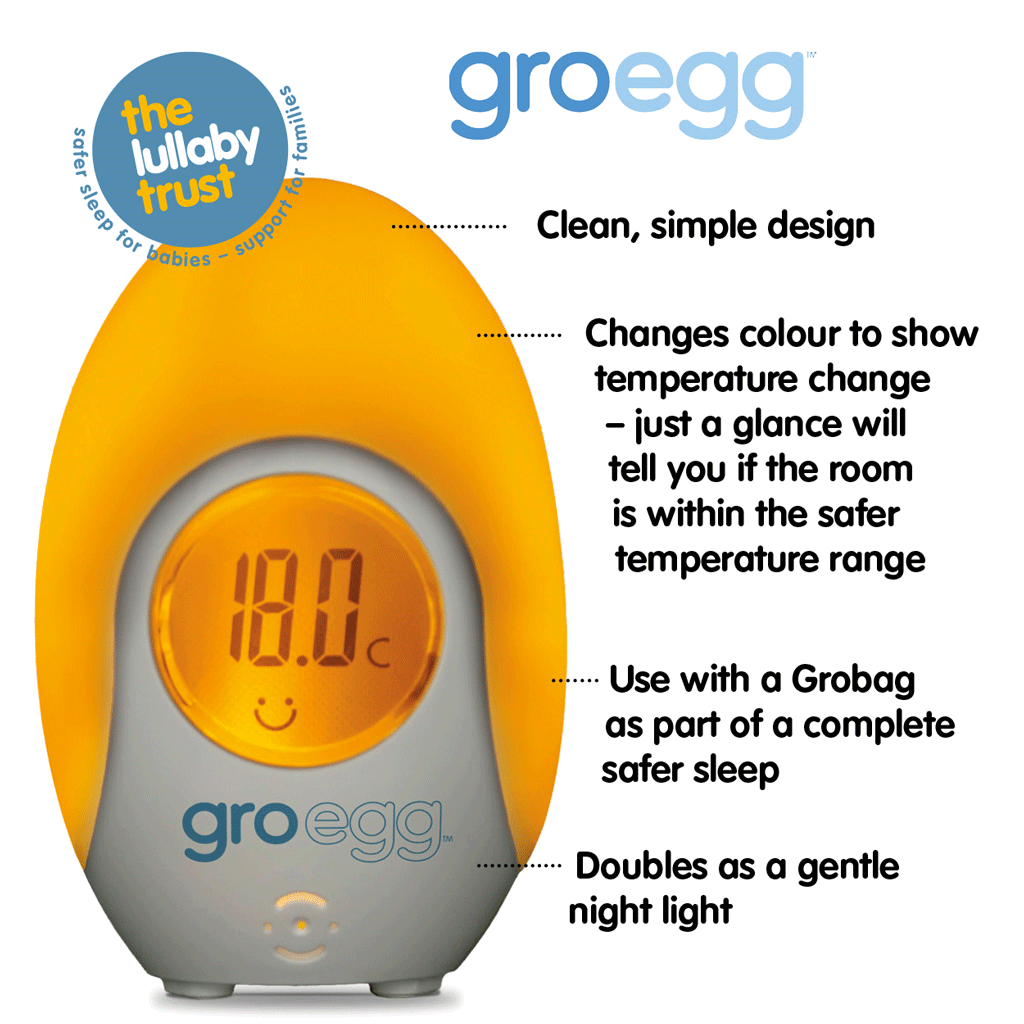 The Gro Company Gro-Egg Room Thermometer Baby/'s Bedding Environment Temperature