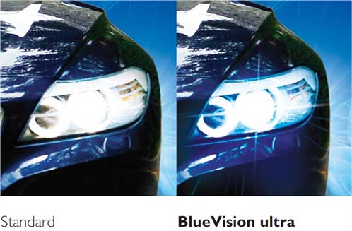 Philips 0730227 12336bvub1 Bluevision Ultra Xenon Effect