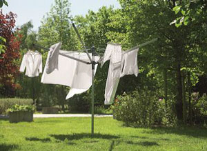High capacity laundry line
