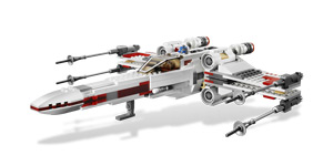 X-Wing Starfighter with R2-D2 minifigure