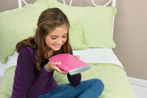 Girl using the Password Journal 8