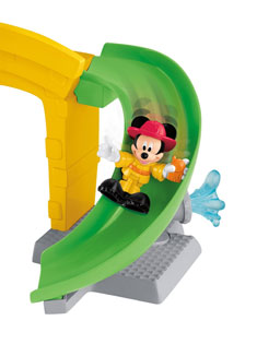 Mickey on the slide