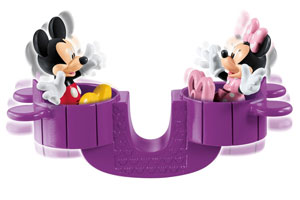 Mickey and Minnie on teeter-totter