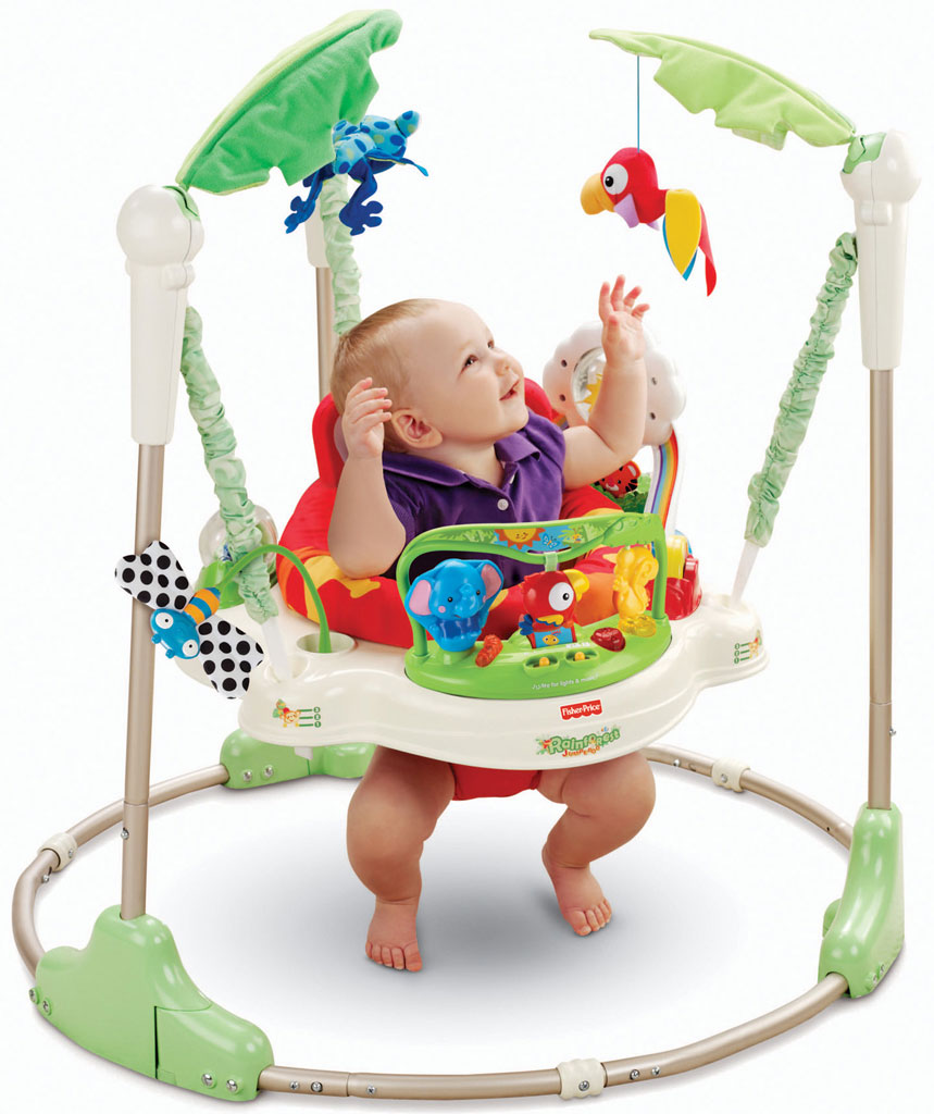 fisher price rainforest jumperoo baby