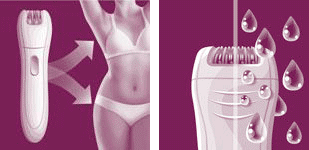 Narrow head precision epilator and wet and dry feature