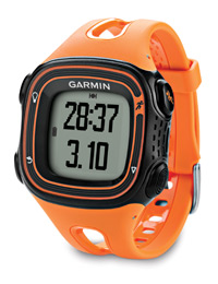 Garmin Forerunner 10 orange: See your time and distance <
