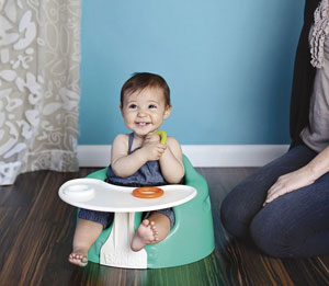 Baby in Floor Seat with Play Tray