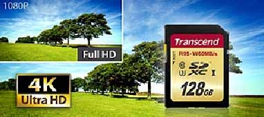 Transcend SDXC UHS-I U3 memory card productivity