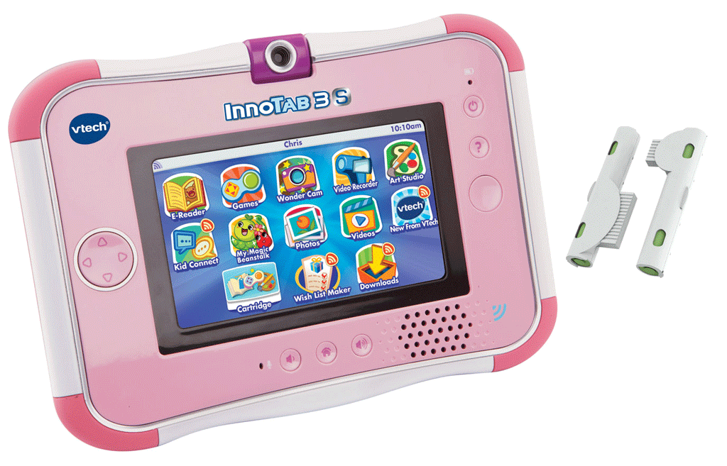 Vtech innotab 3s in pink with rechargeable battery pack boxed for Bureau 3 en 1 vtech