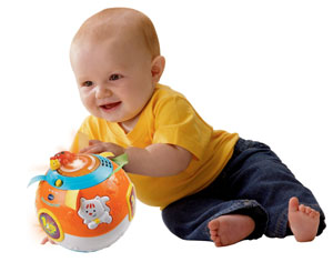 Child playing with Bright Lights Ball