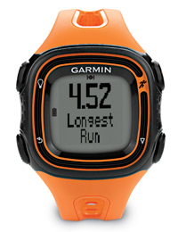 Garmin Forerunner 10 orange: With personal record alerts