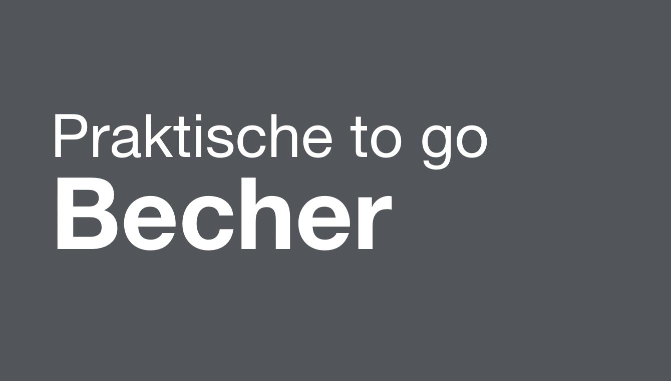 Praktische to go Becher