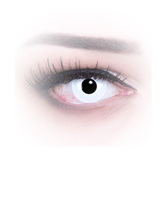Meralens Crazy White out Kontaktlinse