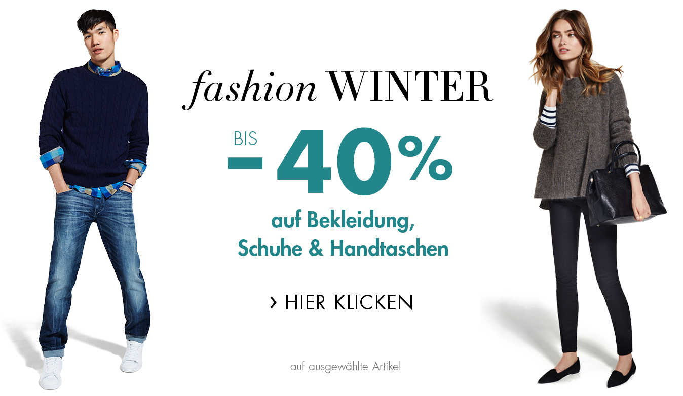 Bis -40% auf Bekleidung, Schuhe und Handtaschen