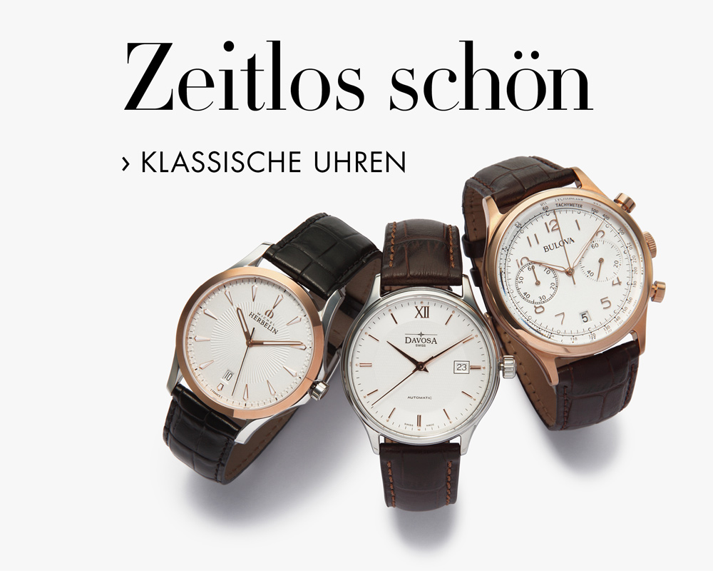 Klassische Uhren mit Lederarmband