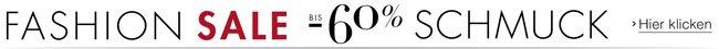 Fashion Sale bis -60% auf Schmuck