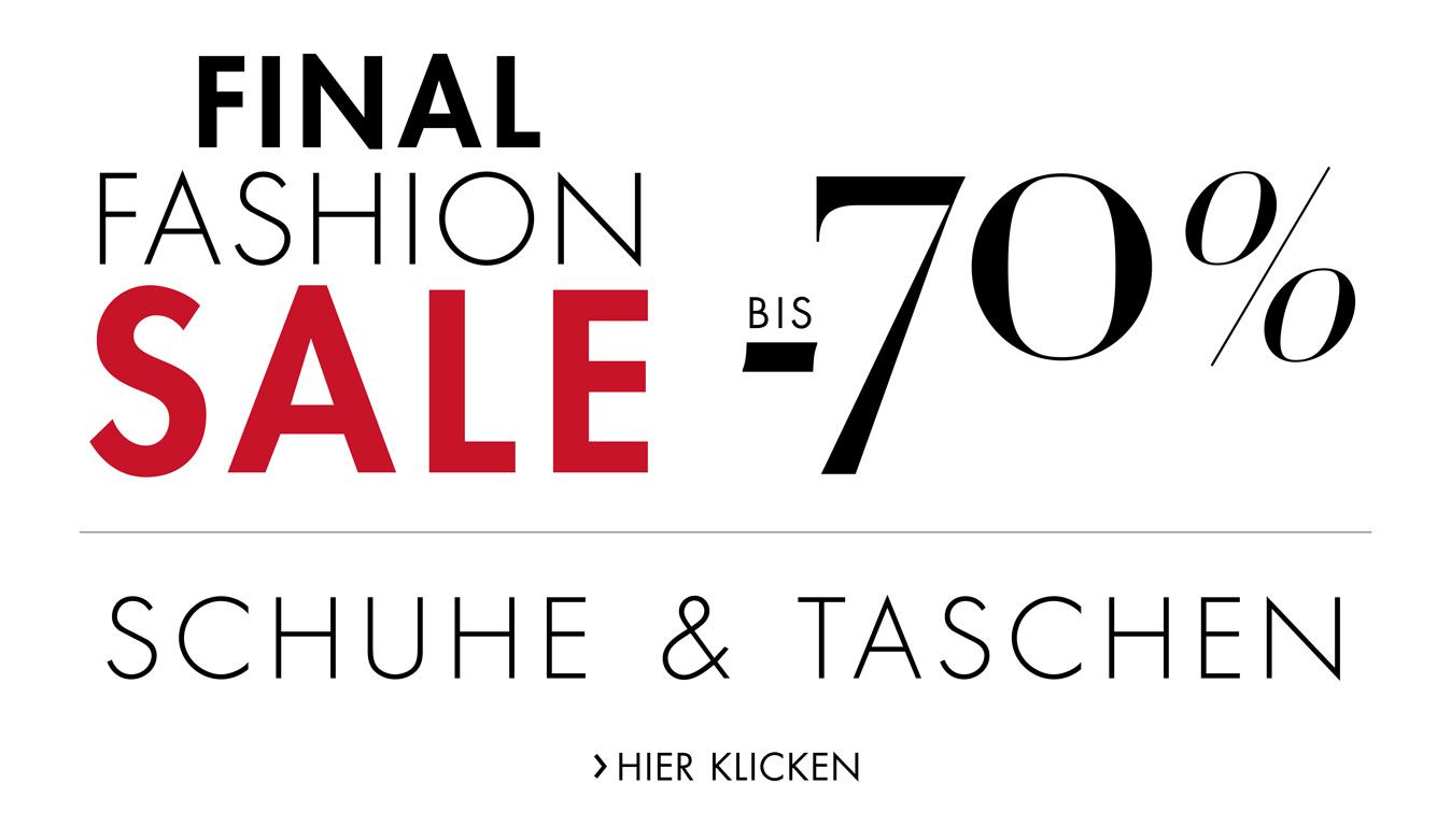 Final Sale: bis -70% auf Schuhe & Taschen