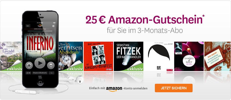 25 € Amazon-Gutschein für Sie im 3-Monats-Abo!