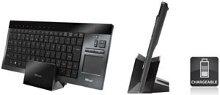 Einfaches Aufladen der Tastatur in der separaten Halterung