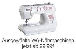 W6-Nähmaschinen jetzt ab 79,99 EUR