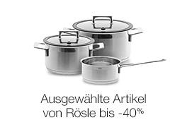 Angebote bis -40% zum Start des Rösle-Markenshops