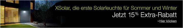 15% Extra-Rabatt auf X-Solar