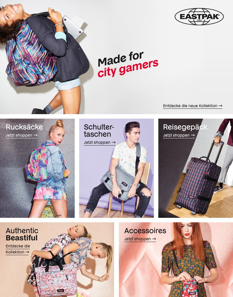 Eastpak Shop - neue Kollektion 2014