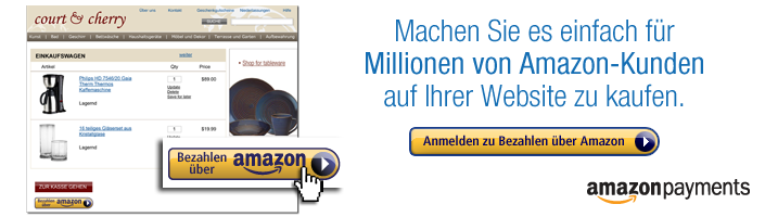 Bezahlen ber Amazon ist eine umfassende Zahlungslsung fr Internethndler.