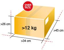 Paket in Übergröße