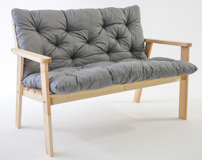 gartenbank mit polster 200443 eine. Black Bedroom Furniture Sets. Home Design Ideas