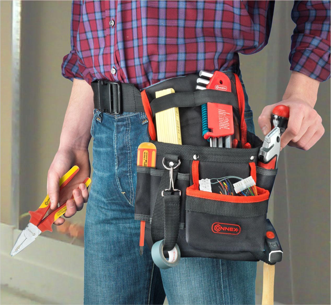 connex werkzeugtasche mit g rtel 8 f cher cox952054. Black Bedroom Furniture Sets. Home Design Ideas