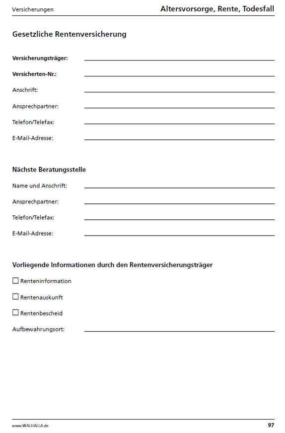 Musterbriefe Rente : Die neue vorsorge mappe mit cd rom organisationshilfe im