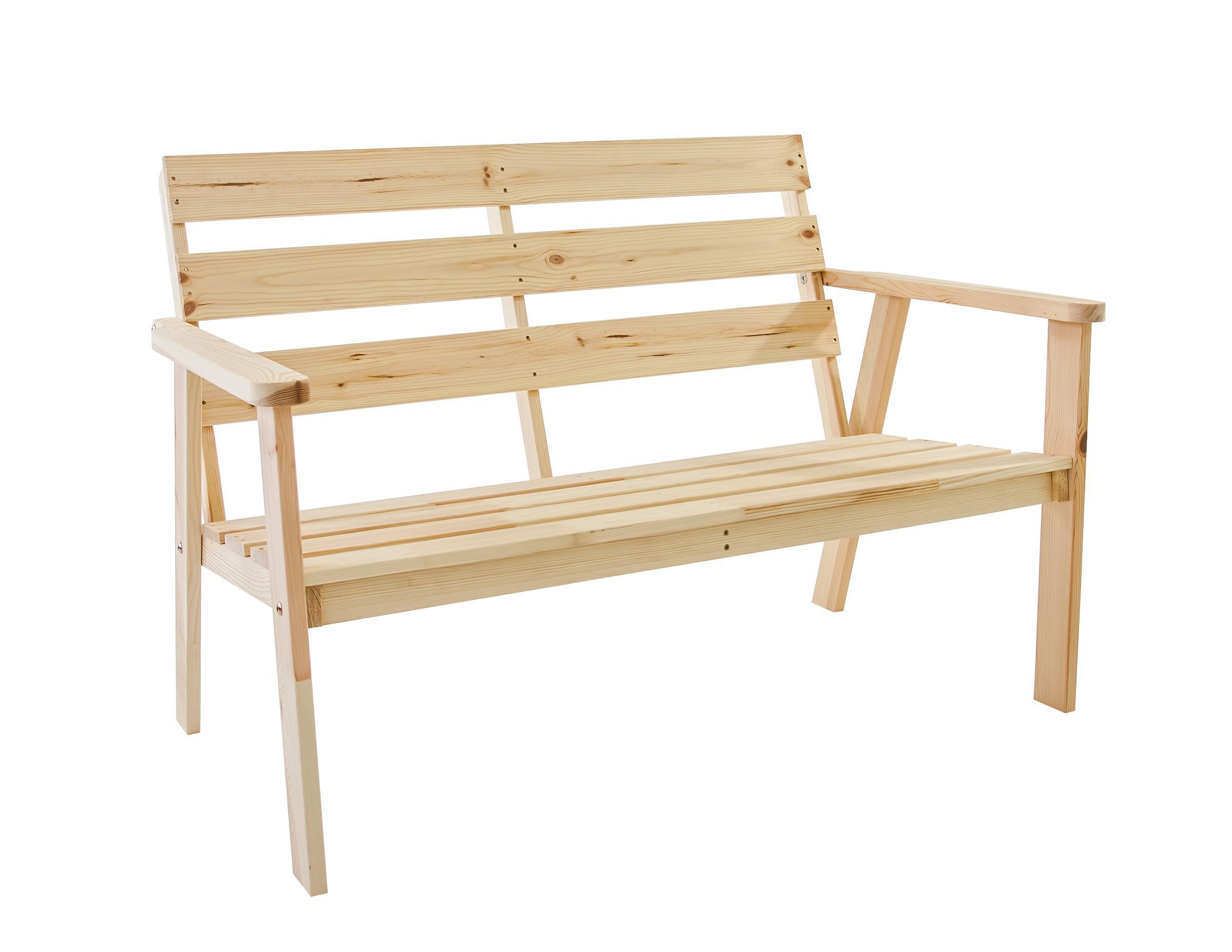 GartenmObel Holz Unbehandelt ~ Ambientehome Gartenbank 2er Bank Massivholz Holzbank inkl Kissen