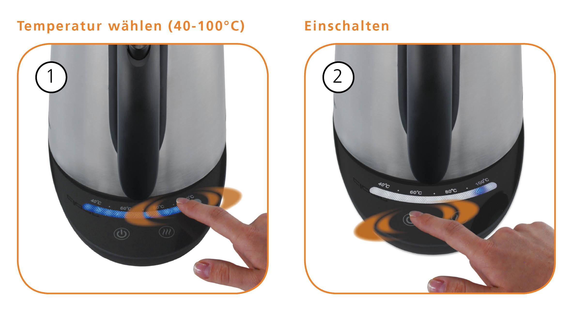 amazonde cloer 4959 elektronik wasserkocher touch (2200  ~ Wasserkocher Für Babynahrung