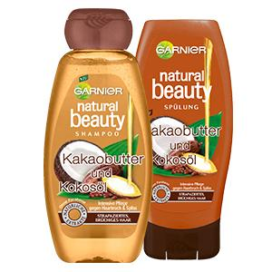 garnier natural beauty shampoo kakaobutter und kokos l. Black Bedroom Furniture Sets. Home Design Ideas