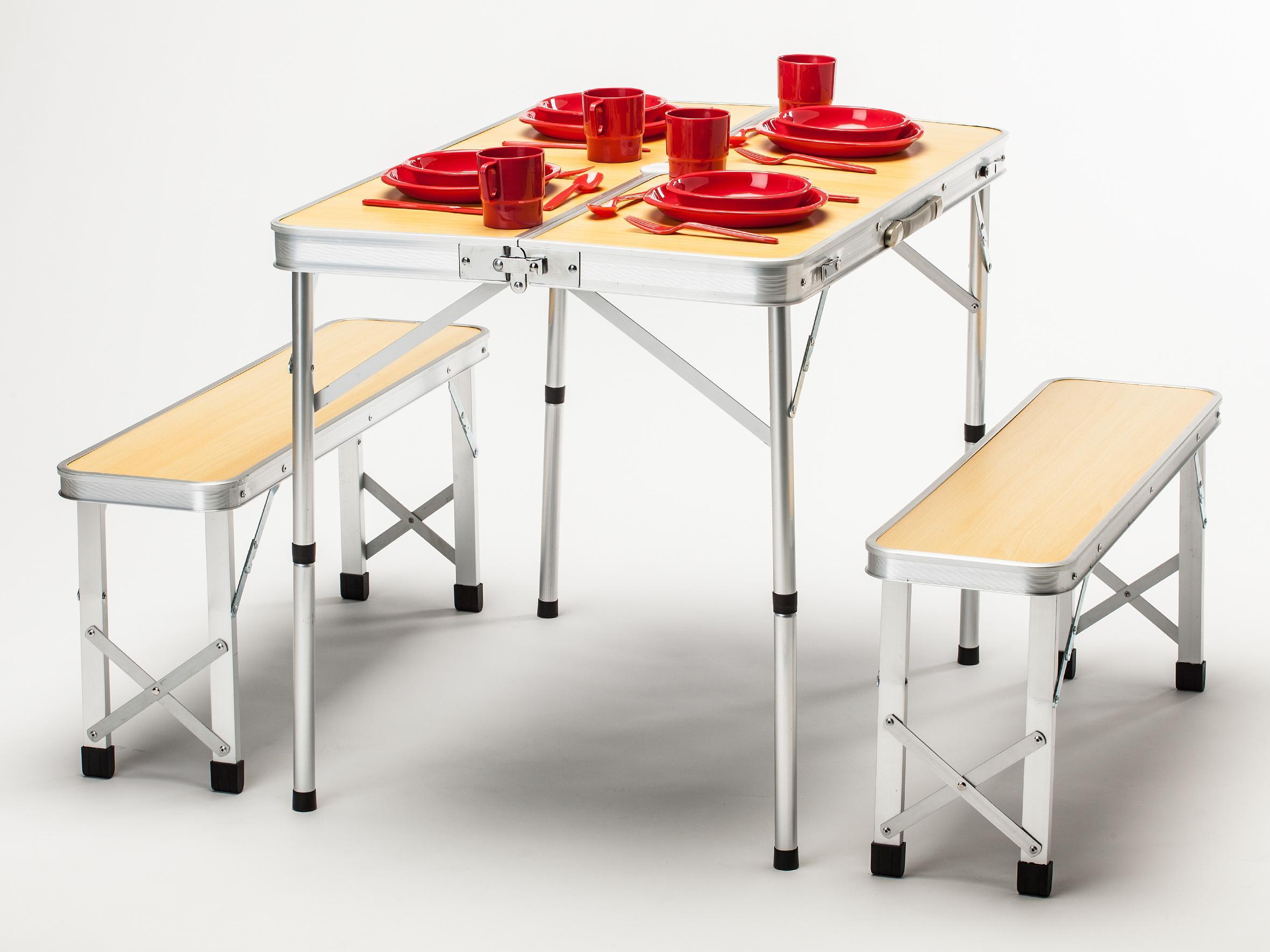 Skandika picknick tisch set camping holzoptik 16204 for Amazon tisch