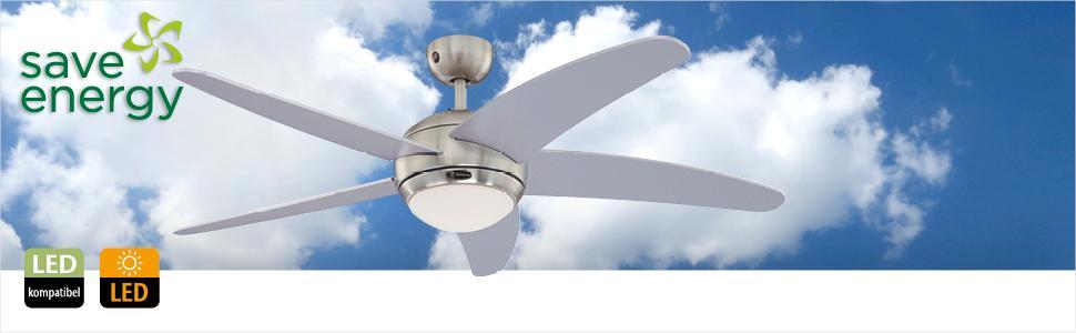 Westinghouse, Deckenventilator, Energie und Kosten sparen, stromsparend
