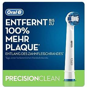 Braun Oral-B Aufsteckbürsten Precision Clean, 2er-Pack
