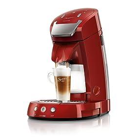 philips senseo hd7854 80 latte select kaffeepadmaschine 2650w 1 2l rot ebay. Black Bedroom Furniture Sets. Home Design Ideas