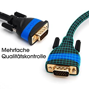 kabeldirekt; vga kabel; vga zu vga; vga 4k; qualitätskontrolle;