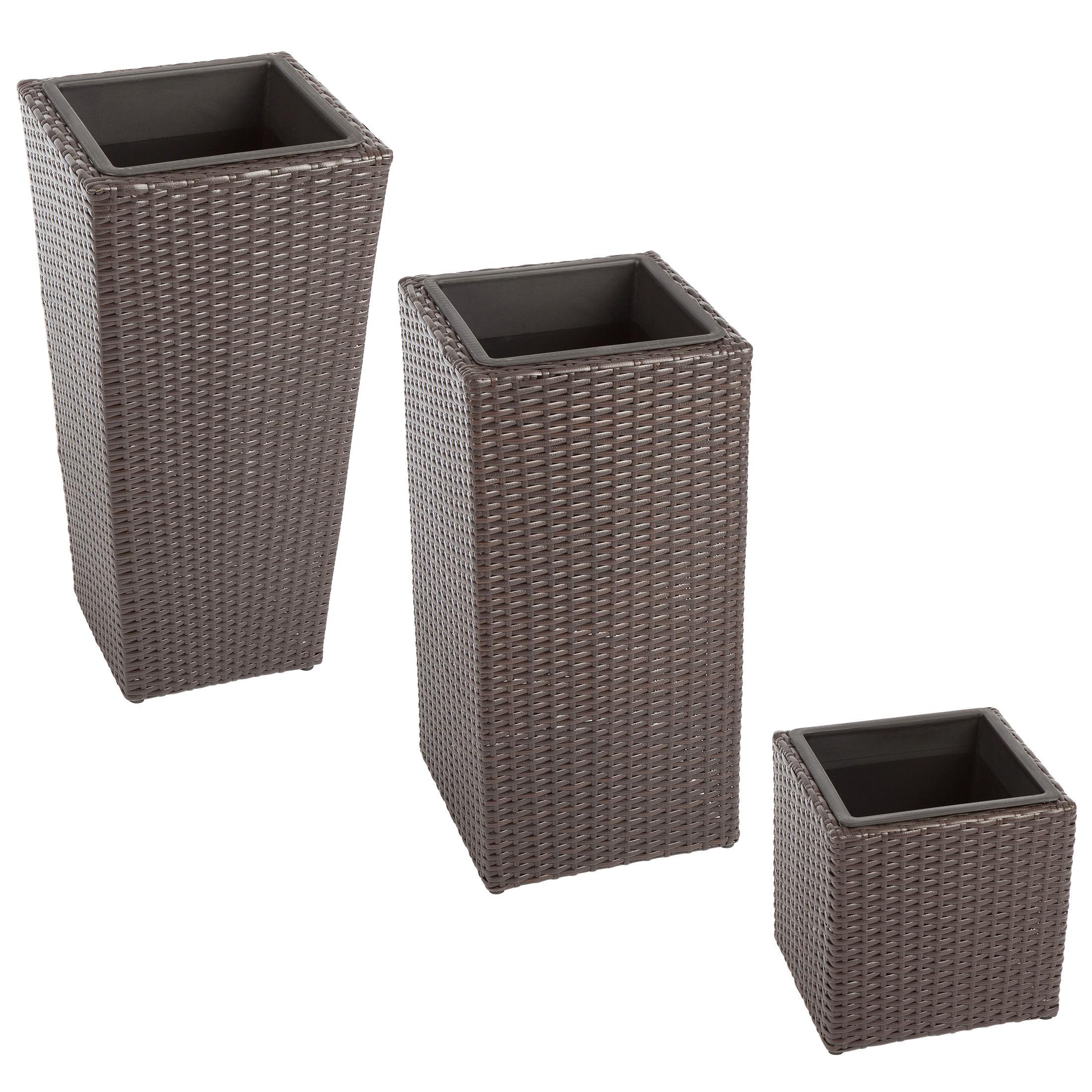 ultranatura 200100000117 poly rattan pflanzk bel klein. Black Bedroom Furniture Sets. Home Design Ideas