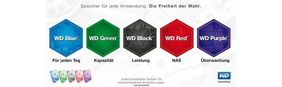 WD interne Festplatten Serie
