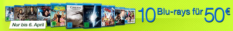 10 Warner Blu-rays für 50 Euro