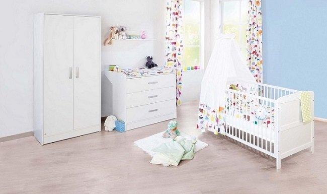 pinolino kinderzimmer viktoria breit 3 teilig kinderbett. Black Bedroom Furniture Sets. Home Design Ideas