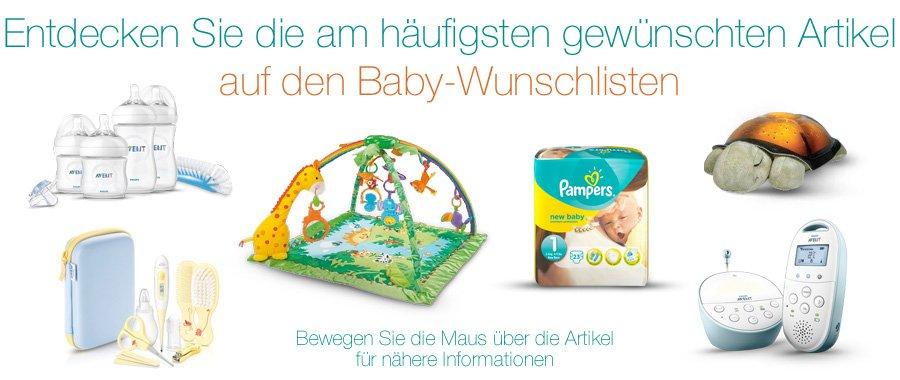 Topseller Artikel auf den Baby-Wunschlisten von Amazon
