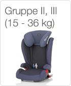 Gruppe II, III (15 - 36 kg)
