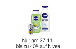 Angebot des Tages - Cyber Monday Woche - nur am 27.11. bis zu 40% Rabatt auf Nivea