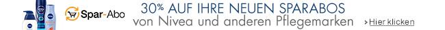 30% auf ihre neuen Sparabos von Nivea und anderen Pflegemarken