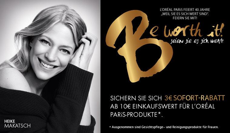 L'OREAL Paris Produkte! 3€ Rabatt ab 10€ Einkaufswert