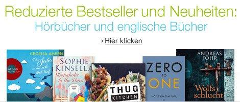 Reduzierte Bestseller und Neuheiten - Hörbücher und englische Bücher